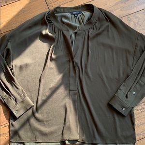 XS BABATON blouse dark olive green